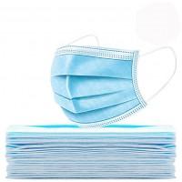 一次性成人平面口罩 蓝白色 厂家直销