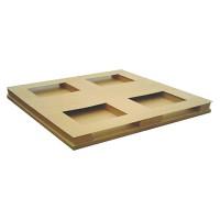 田字底三条脚两面叉纸托盘专业生产厂家按需定制