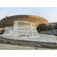 安徽海洋馆入口旋转护栏 不锈钢艺术雕塑定制